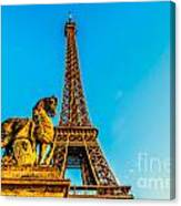 Eiffel Tower With Horse Canvas Print