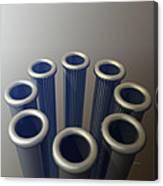 Eight Metallic Tubes Canvas Print