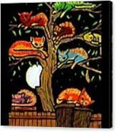 Eight Tree Cats Canvas Print