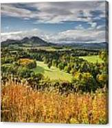 Eildon Hills In Autumn Canvas Print