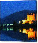 Eilean Donan At Night Canvas Print