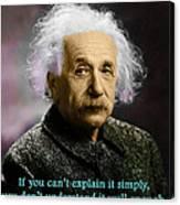 Einstein Explanation Canvas Print