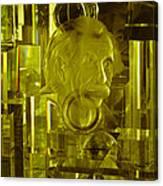Einstein In Crystal - Yellow Canvas Print