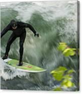 Eisbach Surfing Canvas Print