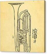 Eisenbrandt Cornet Patent Art 1854 Canvas Print