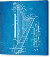 Ekman Harp Patent Art 1905 Blueprint Canvas Print
