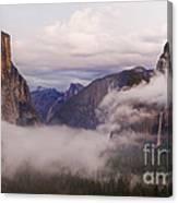 El Capitan Rises Over The Clouds Canvas Print