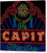 El Capitan Theatre Sign In Hollywood Canvas Print