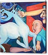 El Espectaculo De La Injusticia-triptico Canvas Print