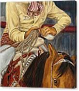 El Esperar Del Charro Canvas Print