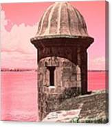 El Morro In The Pink Canvas Print