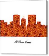El Paso Texas Raging Fire Skyline Canvas Print