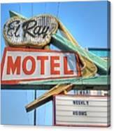El Ray Motel Canvas Print