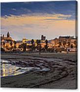 El Rompidillo Beach Panorama Cadiz Spain Canvas Print
