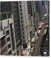 Chicago Loop Train Tracks  Canvas Print