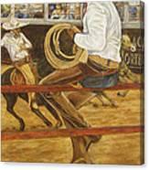 El Vaquero Que Ata Canvas Print