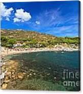 Elba Island - Beach In Seccheto  Canvas Print