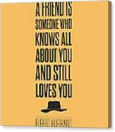 Elbert Hubbard Friendship Quotes Poster