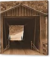 Elder Mill Covered Bridge Canvas Print