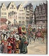 Election To The Empire The Procession Canvas Print