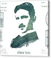 Electric Arc Lamp Patent Art Nikola Tesla Canvas Print