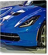 Electric Blue Corvette Canvas Print