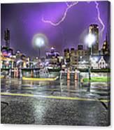 Electric Detroit  Canvas Print