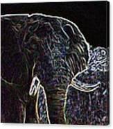 Electric Elephant Canvas Print