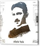 electric generator patent art Nikola Tesla Canvas Print