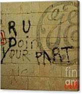 Electric Graffiti  Canvas Print