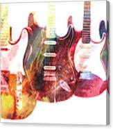 Electric Guitars Canvas Print