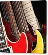 Electric Guitars Closeup Canvas Print