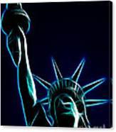 Electric Liberty Canvas Print