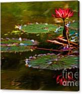 Electric Lily Pad Canvas Print