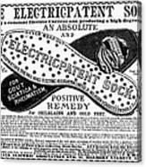 Electric Socks, 1884 Canvas Print