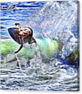 Electric Splash Canvas Print