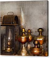 Electrician - A Collection Of Oil Lanterns  Canvas Print