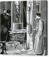 Electroplating The Dead, 1891 Canvas Print
