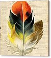 Elegant Feather-c Canvas Print