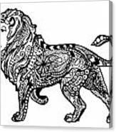 Elegant Lion Canvas Print