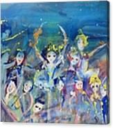 Elementals On The Beach Ballet Canvas Print