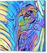 Elephant - Sky Blue Canvas Print