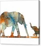 Elephant 01-2 Canvas Print
