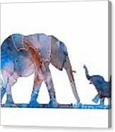 Elephant 01-3 Canvas Print