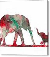 Elephant 01-6 Canvas Print