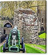 Elephant And Cannon Of The Tower Canvas Print