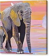 Elephant Fantasy Must Open Canvas Print