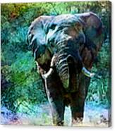 Elephant - Featured In Comfortable Art- Wildlife- And Nature Wildlife Groups Canvas Print