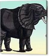 Elephant From The Historiae Animalium 16th Century Canvas Print
