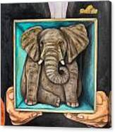 Elephant In A Box Edit 2 Canvas Print